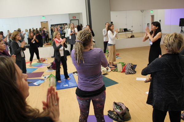 National Kids Yoga Conference Gail Silver action