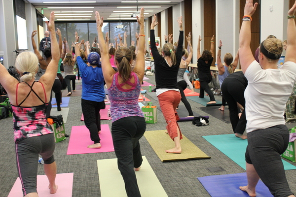 National Kids Yoga Conference closing yoga with Eddie Stern