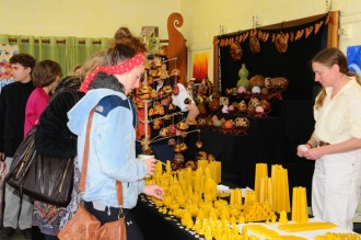 Washington Waldorf School beeswax candles