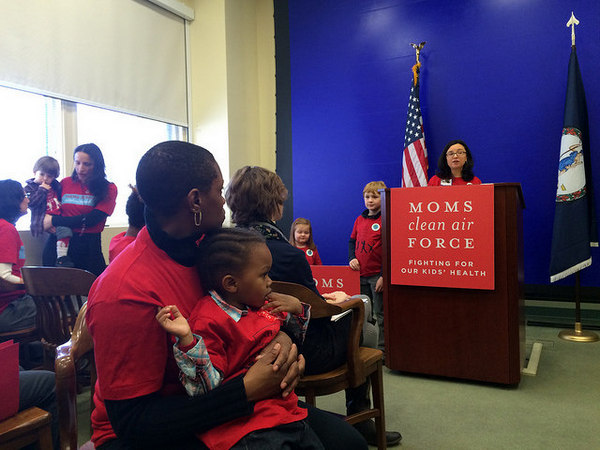 Moms Clean Air Force MamaSummitVA - MCAF photo Jessica Claire Haney press conference 2