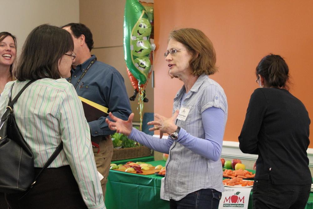 2015 Growing Green Schools in Arlington - participants in conversation