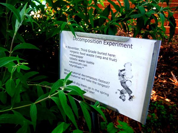 APS Growing Green Schools Garden Meetup Jamestown Elementary 6-8-15  garden sign