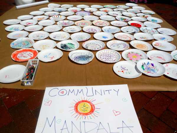Love Your Body Day 2015 - community mandala by kids