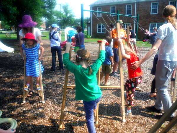 Potomac Crescent Waldorf School Waldorf Wonderdays - Mindful Healthy Life - multiple stilts