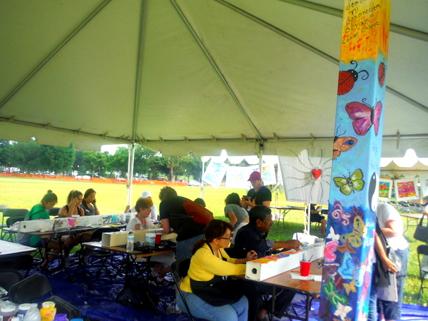 World Children's Festival 2015 - Posts for Peace and Justice tent  - by Mindful Healthy Life