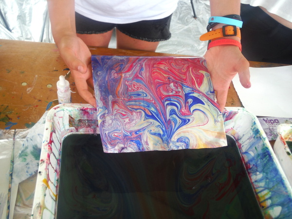 World Children's Festival 2015 -  marbling 1 - by Mindful Healthy Life