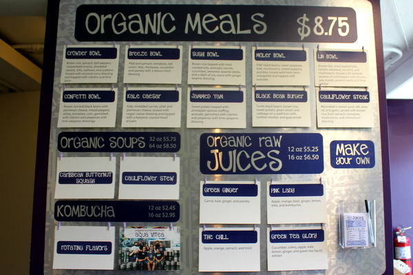 Moms Organic Market Arlington opening by Mindful Healthy Life - Naked Lunch menu