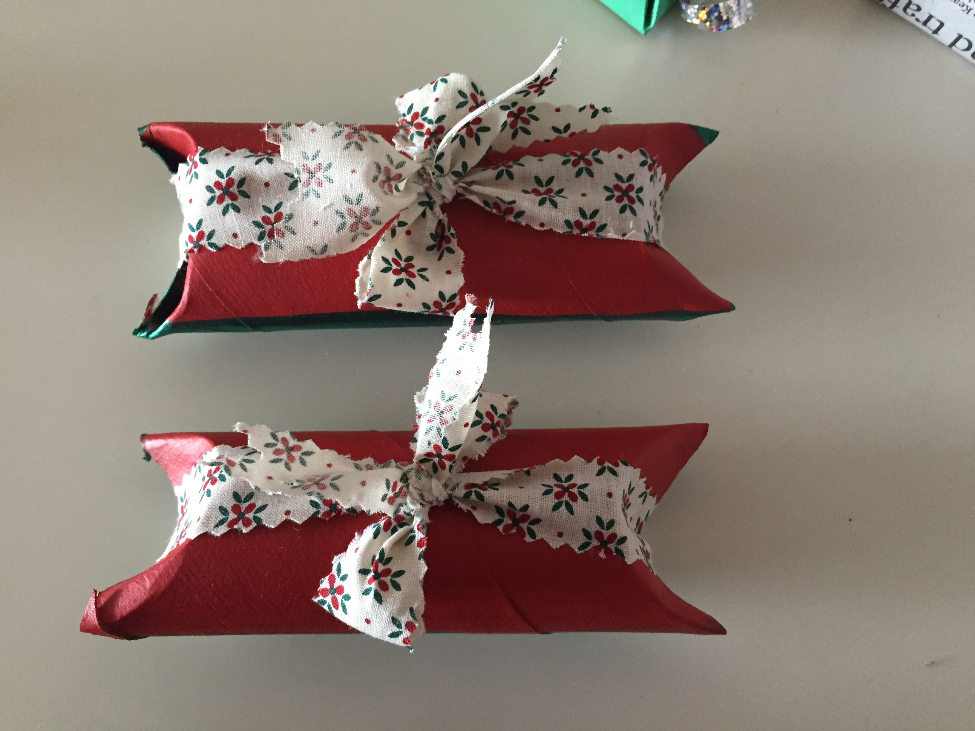 Wrapping your small gift with paper towel roll is a good way to recycle it.