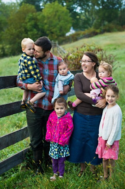 Whiffletree Farm Jesse and Liz Straight with children