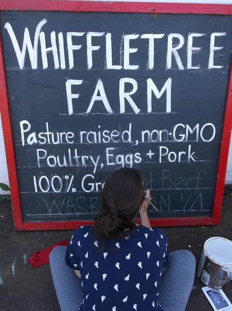 Whiffletree Farm chalkboard