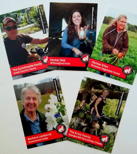 5 Loudoun County farmer trading cards