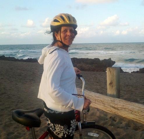 JJ beach on bike photo