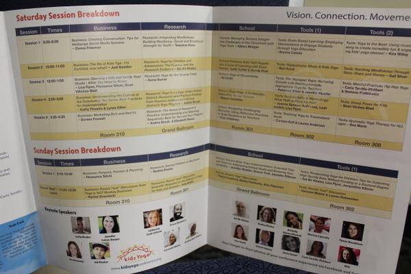 National Kids Yoga Conference 2016 - Full program image