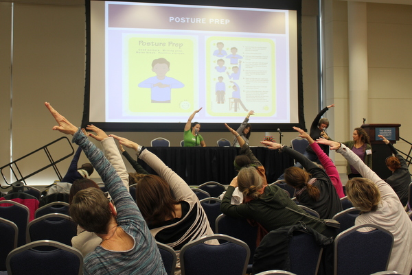 National Kids Yoga Conference 2016 - Yoga in school-wide implementation panel - posture action