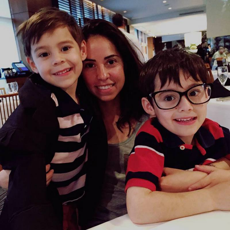 danielle larkins with sons