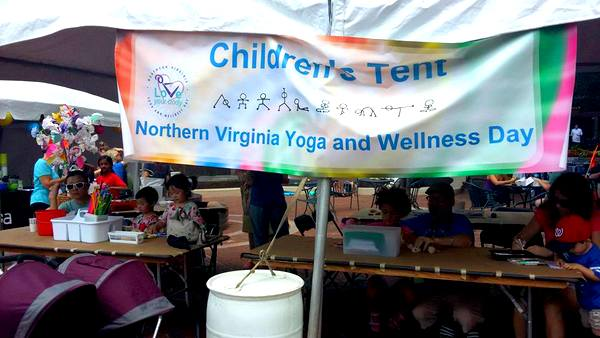 2016 Love Your Body Yoga Festival children's tent