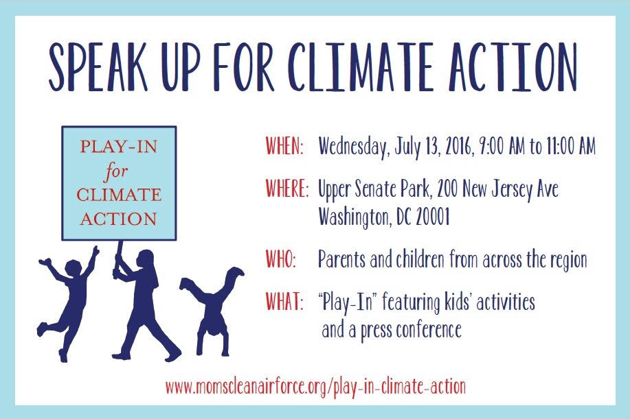 2016 Play In for Climate Action postcard