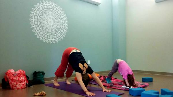 Cathy Burke Ease yoga with kids