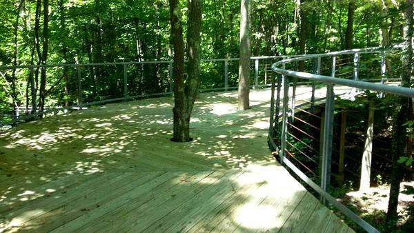 Annmarie Sculpture Garden bridge