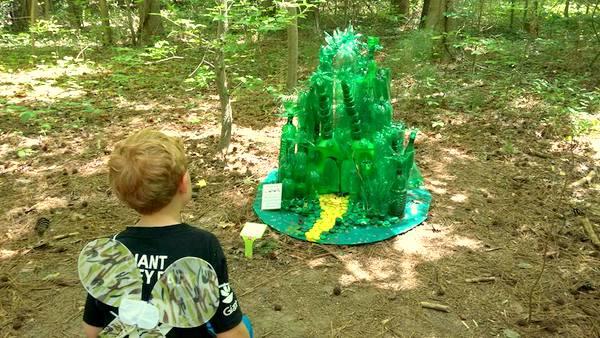 Annmarie Sculpture Garden recycled Emerald City fairy house