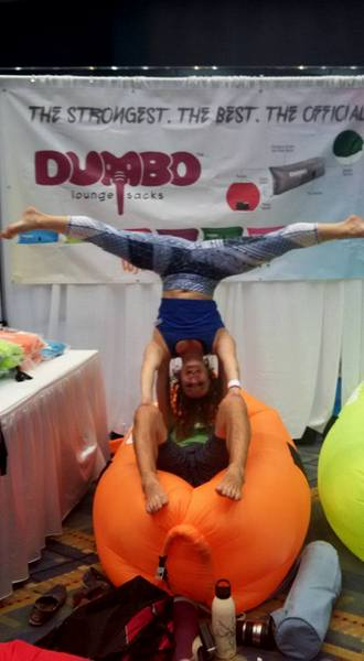 DC Yoga Expo 2016 Dumbo lounge sacks