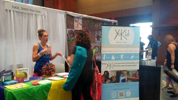 YoKid Yoga at DC Yoga Expo 2016 exhibit table