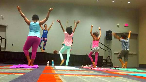 YoKid Yoga at DC Yoga Expo 2016 tree pose