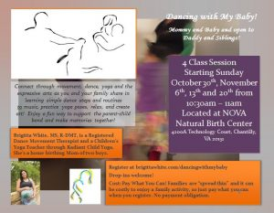 Dance with My Baby! @ NOVA Natural Birth Center | Chantilly | Virginia | United States