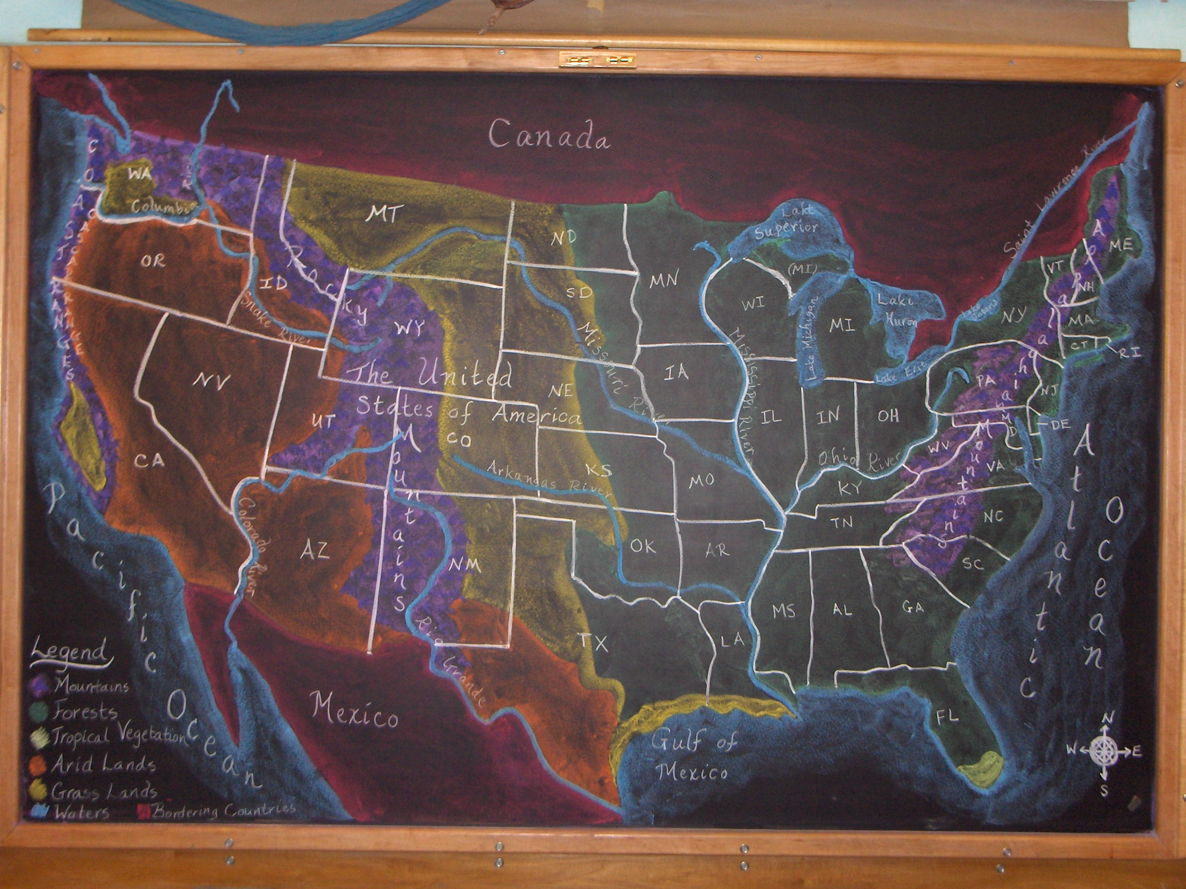 Potomac Crescent Waldorf School Geography grades lesson