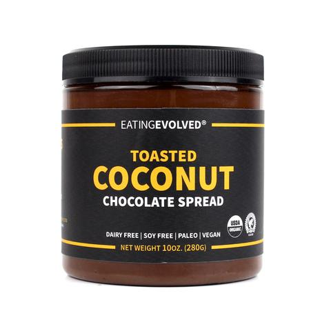 Eating EVOLVED coconut spread