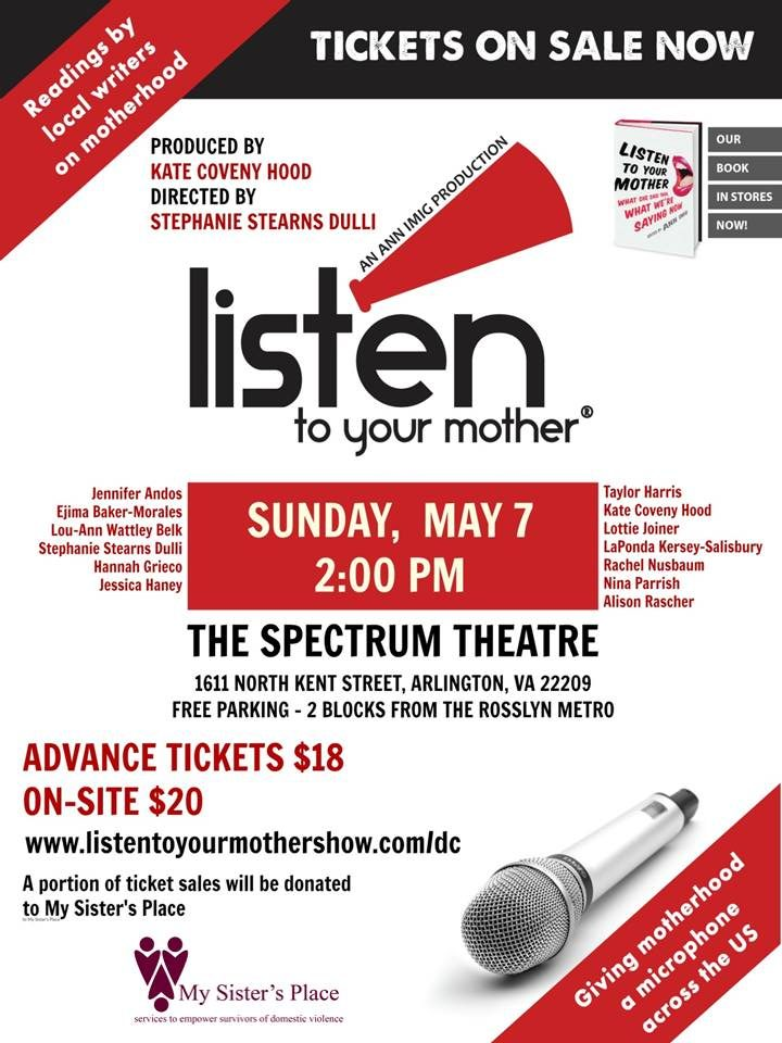 Listen to Your Mother @ Rosslyn Spectrum Theatre