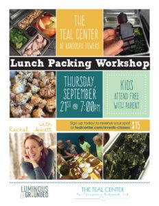 School Lunches - with Rachel Abbett @ The Teal Center  | Arlington | Virginia | United States