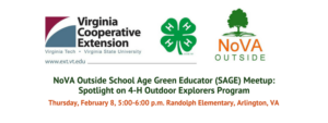 4-H Explorers Program Overview - NoVA Outside School Age Green Educator Meetup @ Randolph Elementary | Arlington | Virginia | United States