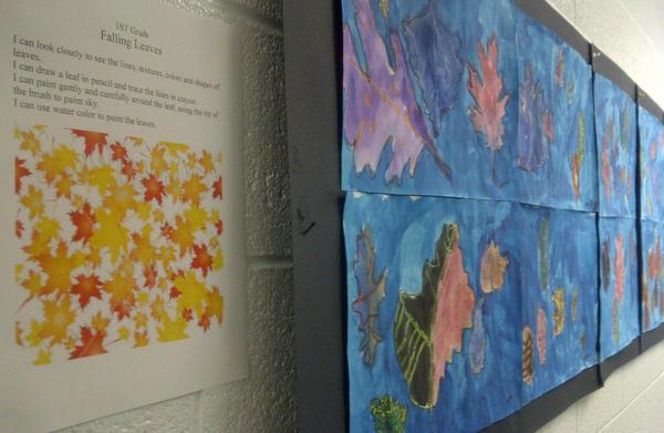 leaf art first grade