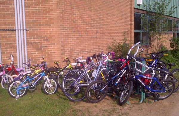 Bike to School Day Bikes