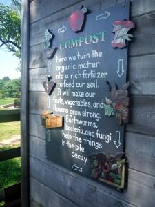 Stoddert Elementary School garden compost