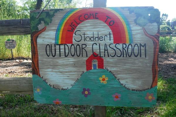 Stoddert Elementary School garden - sign