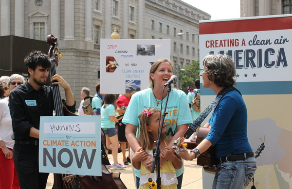Sunny and Erika Trippel with Emma's Revolution EPA ActonClimate rally