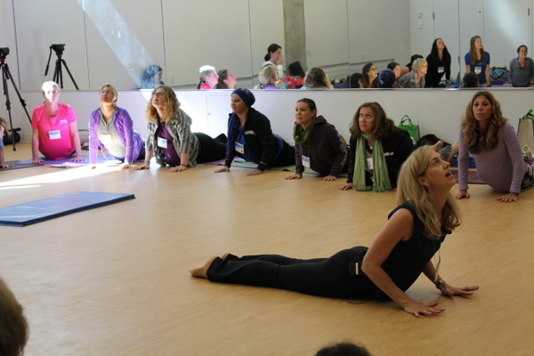 National Kids Yoga Conference Kira Willey up dog