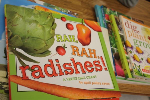 Grow Your Health 2014 kids gardening class book rah rah radishs