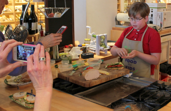 Real Food For Kids Clarendon Williams-Sonoma 2-28-15 Lars inside-out gluten-free sandwich 2