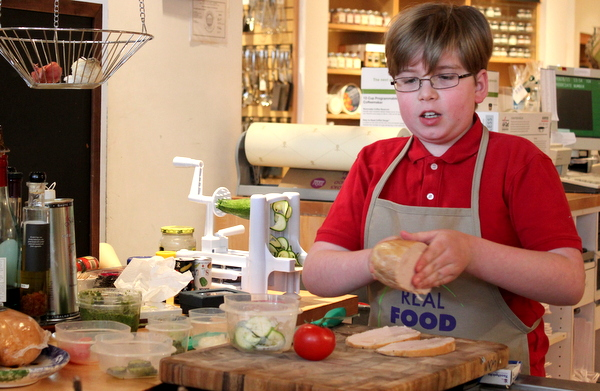 Real Food For Kids Clarendon Williams-Sonoma 2-28-15 Lars inside-out gluten-free sandwich