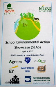 2015 NoVA Outside School Environmental Action Showcase program cover