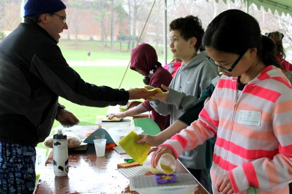 NoVA Outside School Environmental Action Showcase making paper