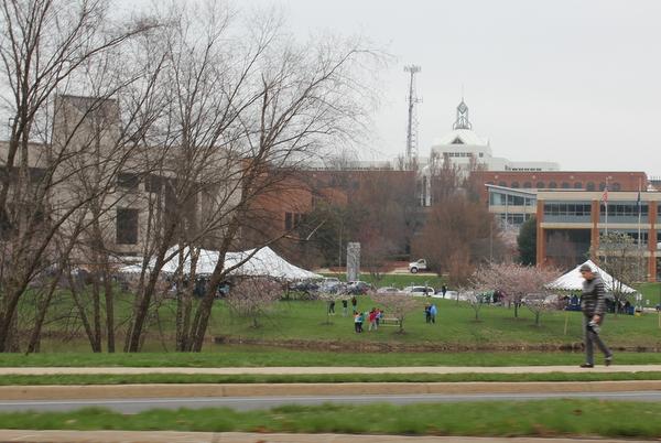 NoVA Outside School Environmental Action Showcase tents