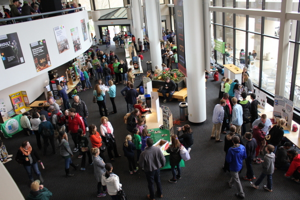 School Environmental Action Showcase 2015 crowd from above