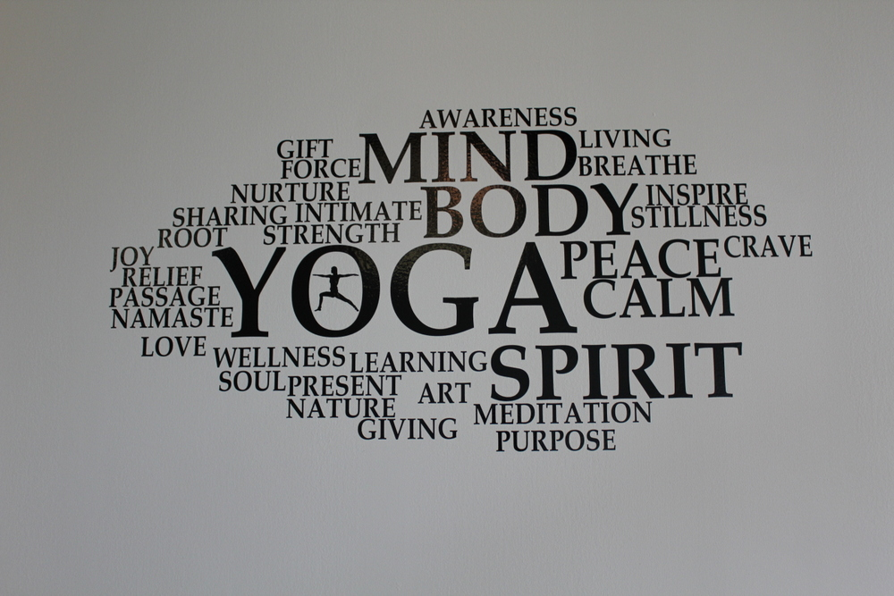 Ease Yoga Cafe by Mindful Healthy Life - cloud wall decal