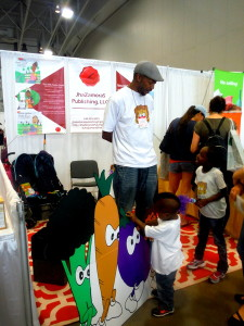 JhaZamoraS Publishing at DC Green Festival - veggie cutouts