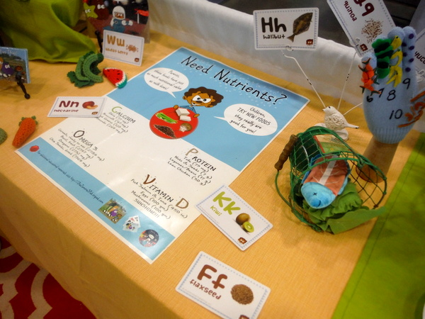 JhaZamoraS Publishing healthy food alphabet at DC Green Festival