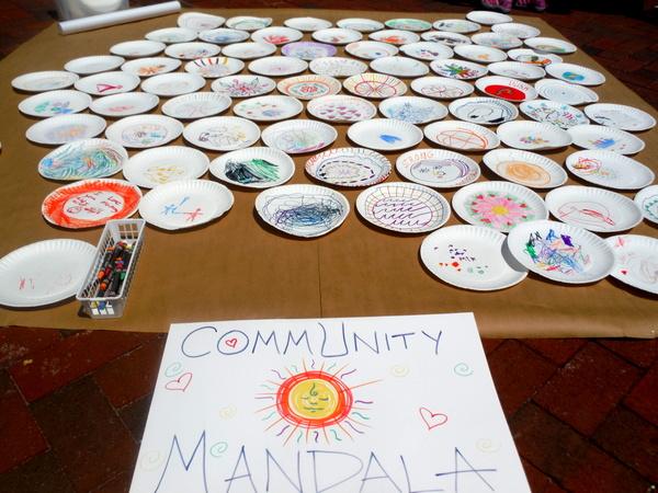 Love Your Body Day 2015 - community mandala by kids